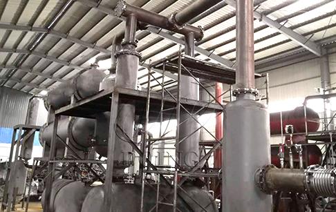 江西客户12吨废轮胎炼油设备再次安装投产